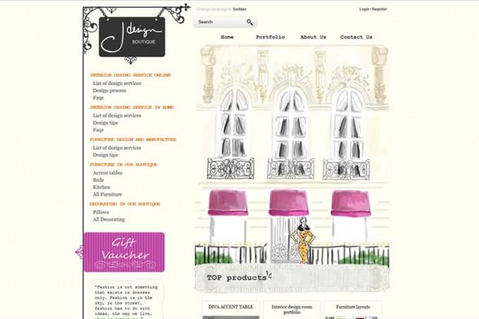 Izrada web prodavnice za prodaju namestaja